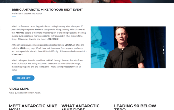 Antarctic Mike Professional Speaker and Author